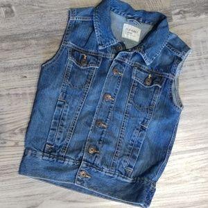OLD NAVY Dark Denim Blue Denim Vest Size Small